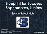 Blueprint for Success Sophomores/Juniors Back to School Night with Logo