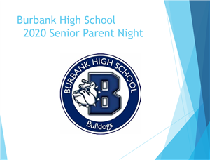 BHS 2020 senior parent night