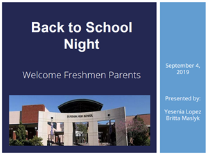 Back to School Night Freshman Presentation Logo Decorative