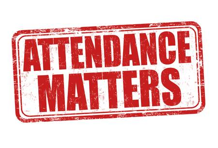 Attendance Matters in red font