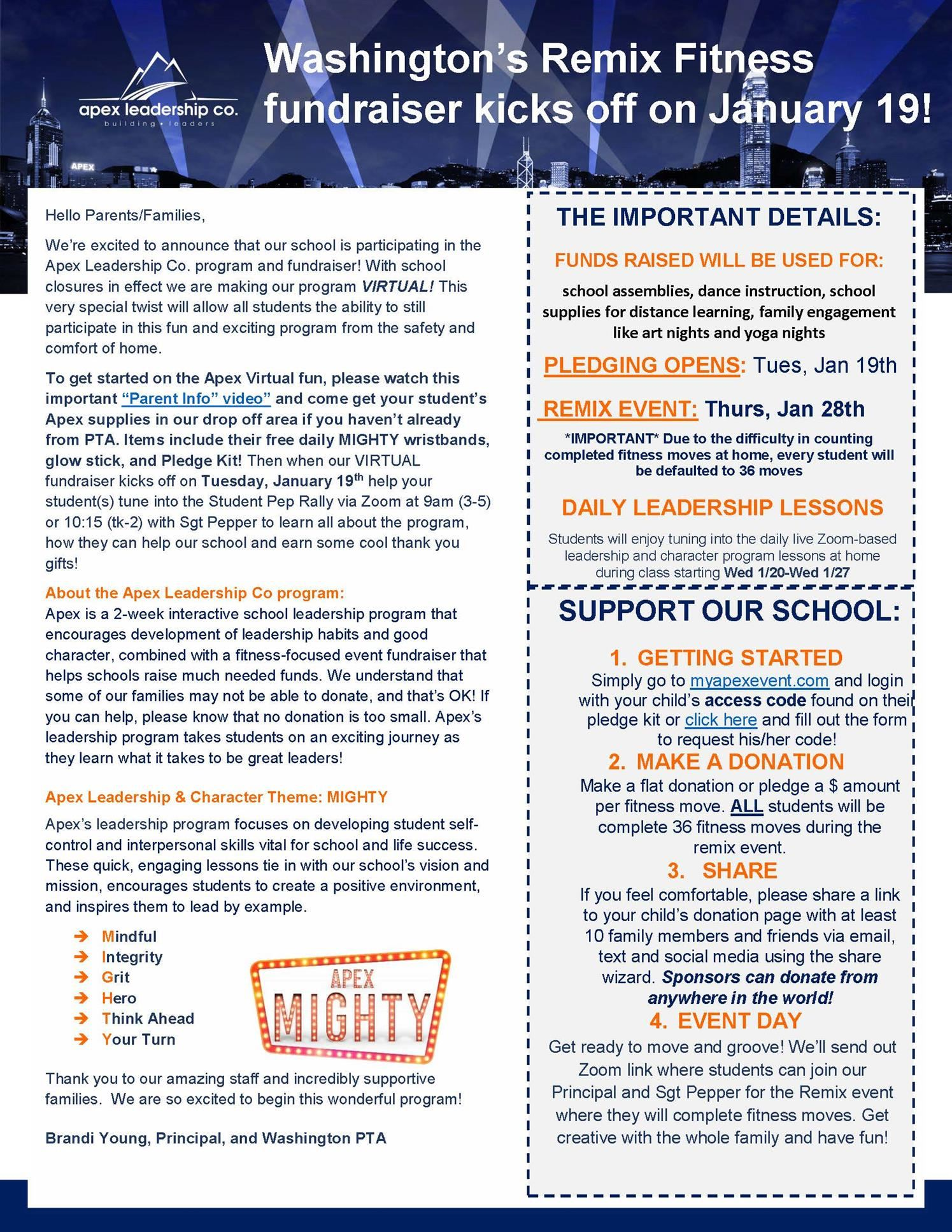 APEX Principal's Newsletter