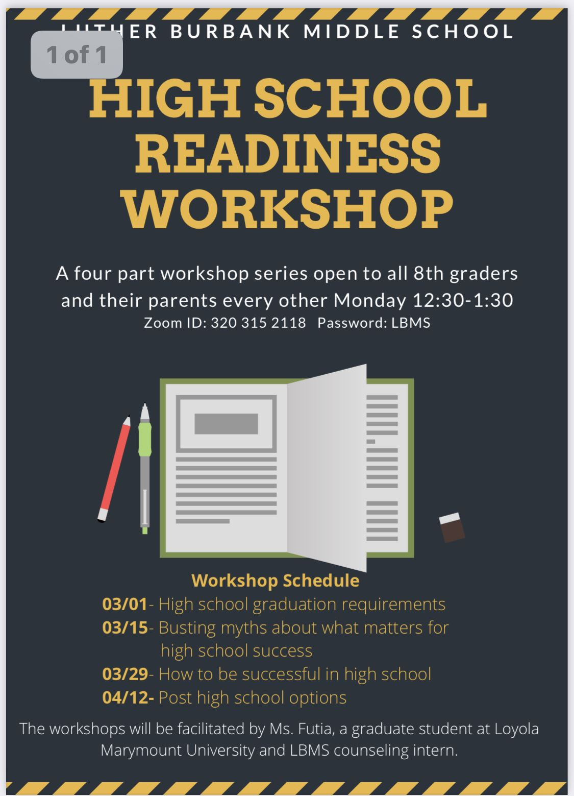 BUSD High School Readiness Workshops