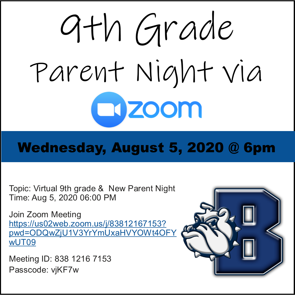 9th grade parent info night