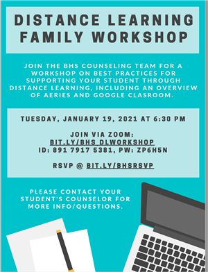 BHS Distance Learning Family Night 1/19