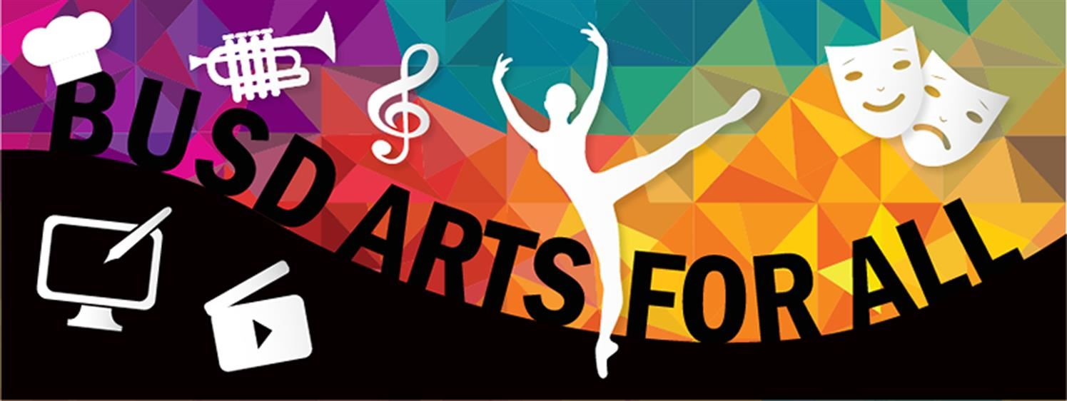 BUSD Arts for All logo image