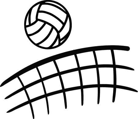 decorative volleyball clipart