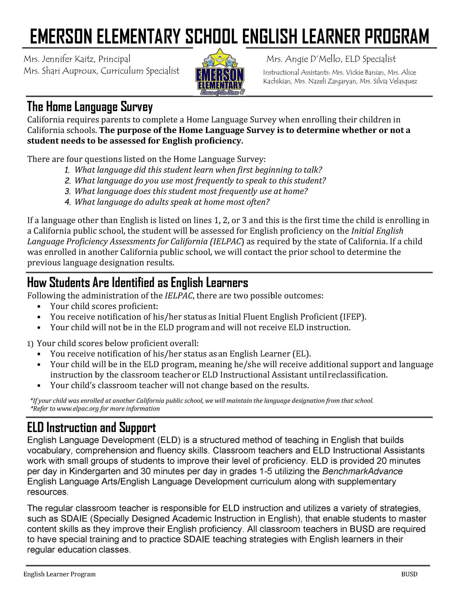 Link to Emerson English Learner Program (English) PDF