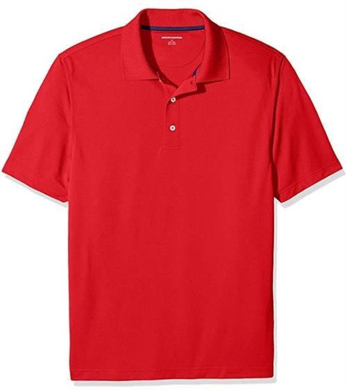 Photo of an example of a red shirt with a collar for 5th grade only