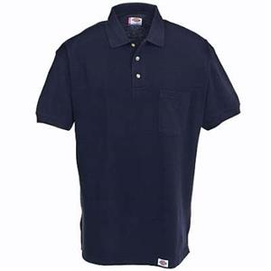 Photo of an example of a navy blue shirt with a collar
