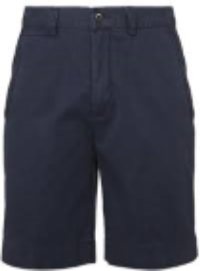 Photo of an example of a navy blue shorts
