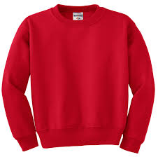 Photo of an example of a red sweatshirt