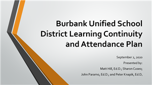 Link to Presentation of Learning Continuity and Attendance Plan